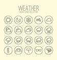 Weather Linear Icons Collection vector image