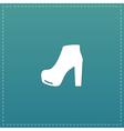 woman shoe icon vector image vector image