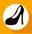 women boots icon on white circle with a long vector image vector image