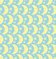 Yellow Happy Cute Moon and Star Pattern on Pastel vector image vector image