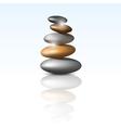 zen stone tower vector image