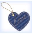 jeans heart valentine label vector image