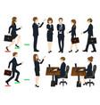 set cartoon business people no3 vector image