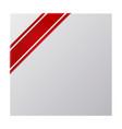 Red mourning corner ribbon vector image