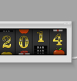 Happy New Year Slot maching with 2014 digits vector image
