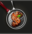 grilled beef steak vector image
