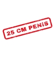 25 Cm Penis Text Rubber Stamp vector image vector image