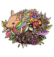Abstract colored hedgehog print vector image vector image