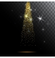 Abstract light background Magic with gold glitter vector image vector image