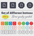 Add file icon sign Big set of colorful diverse vector image vector image