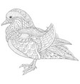 adult coloring bookpage a cute duck image for vector image