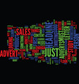 are your sales on the up text word cloud concept vector image vector image