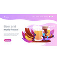 beer fest concept landing page vector image vector image