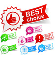 Best color tags vector image vector image