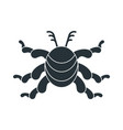 black virus color icon vector image