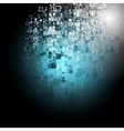Blue tech squares dark background vector image vector image