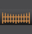 brown wooden fence isolated vector image