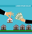 buy house banner concept for cash vector image