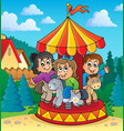 carousel theme image 2 vector image vector image