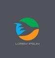 circle bird silhouette logo vector image vector image