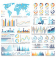 collection infographics isolated vector image