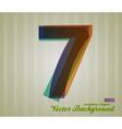 Color Transparency Symbol 7 vector image vector image