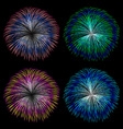 Colorful fireworks set vector image vector image