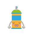 colorful kawaii cue funny aerosol spray vector image