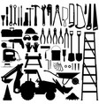 construction tool silhouette a big set of vector image vector image