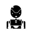 contour tecnology robot face with chest design vector image