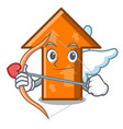 cupid arrow character cartoon style vector image