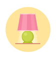 Cute flat nigh light icon Cartoon geometric lamp vector image vector image