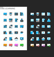 e-learning icons light and dark theme vector image vector image