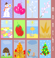 Flat icons of months vector image