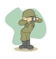 funny army take picture vector image vector image