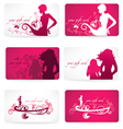 glamour gift cards vector image vector image