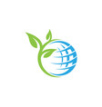 global ecology nature logo template vector image vector image