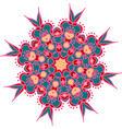 Hand-drawn colored mandala zentangl Holi festival vector image
