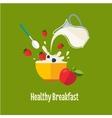 Healthy Breakfast vector image vector image