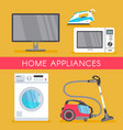 home appliance sale poster banner vector image