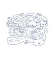 island locality area map sketch isle city vector image