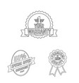 isolated object of emblem and badge icon set of vector image