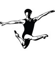 jumping man abstract lines drawing vector image
