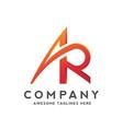 letter ar logo design vector image vector image