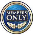 members only gold label vector image vector image
