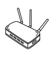 modem icon doodle hand drawn or outline icon style vector image
