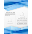 Modern abstract business booklet template vector image vector image