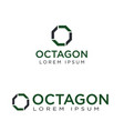 octagon logo design vector image vector image