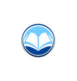 open book knowledge education logo vector image vector image