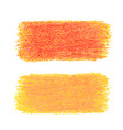 orange crayon scribble texture stain isolated on vector image